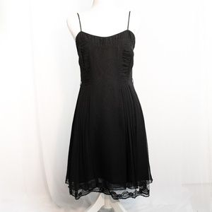 Anna Sui for Anthropologie Black Silk & Lace Dress